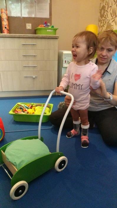 Maryla Prusaczyk podczas rehabilitacji NDT-Bobath